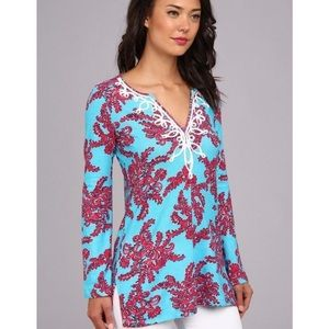 Lilly Pulitzer Westly coral tunic